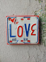 Load image into Gallery viewer, Upcycled License Plate Art - LOVE
