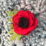 Load image into Gallery viewer, Wool Felt Poppy Pin