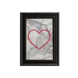 Lake Huron Heart Map 8x10