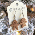 Load image into Gallery viewer, Gingerbread Dangle Earrings
