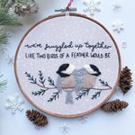 "Load image into Gallery viewer, 6"" Embroidery Hoop - Snuggled up"