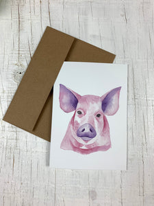 Watercolour Card - Blank