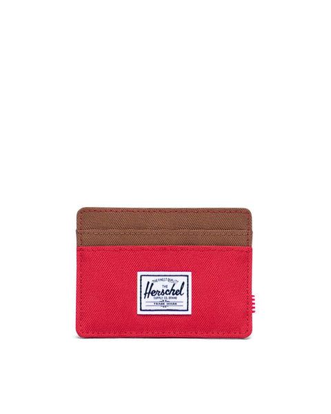 Herschel Charlie Wallet - Red/Saddle Brown