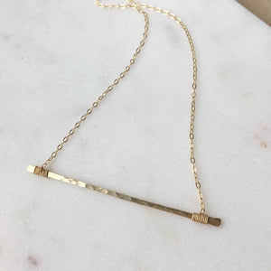 Token Matchstick Necklace - Sterling Silver 16""