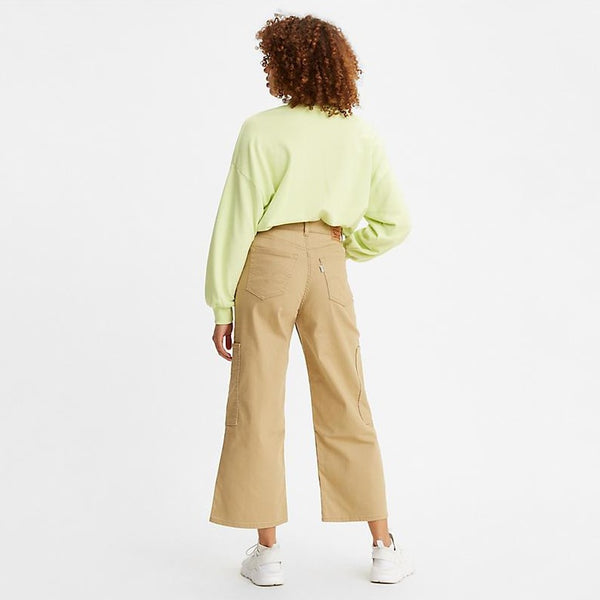 Levis High Waisted Wide Leg Crop