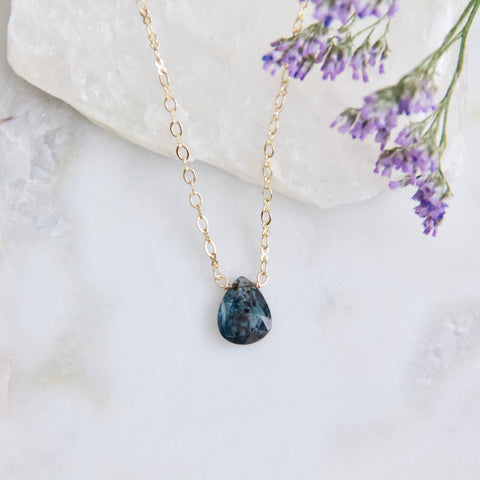 Moss Kyanite Necklace