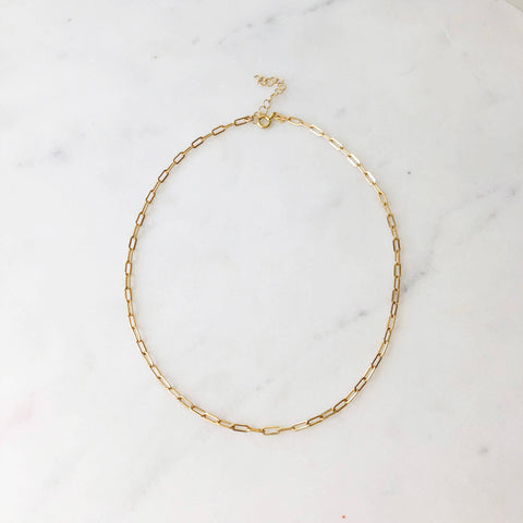 Token Narrow Links Choker - 14K Gold