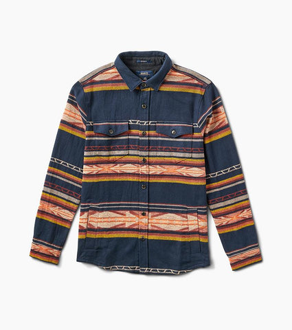 Roark Aleutia Long Sleeve Flannel Over Shirt - Navy