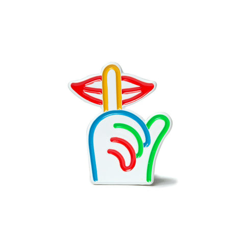 The Quite Life Rainbow Shhh Lapel Pin