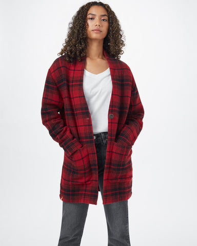 TenTree Womens Flannel Cocoon Cardigan
