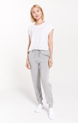 Z Supply Jordan Fleece Jogger - Heather Gray
