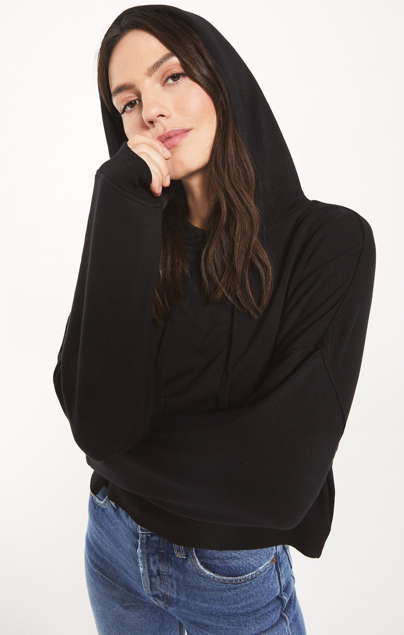 Z Supply Soho Fleece Hoodie - Black