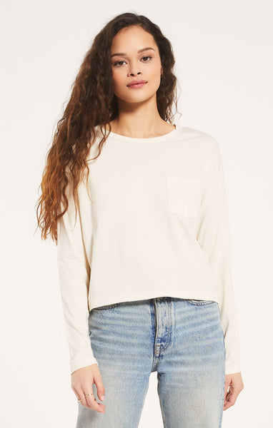 Z Supply Mina Organic LS Tee - Bone