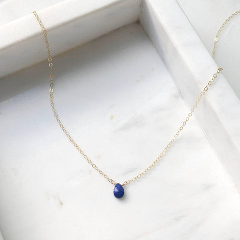 Token Jewelry Lapis Necklace