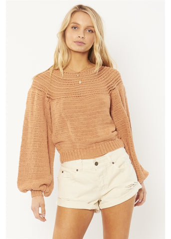 Amuse Stevie Long Sleeve Sweater