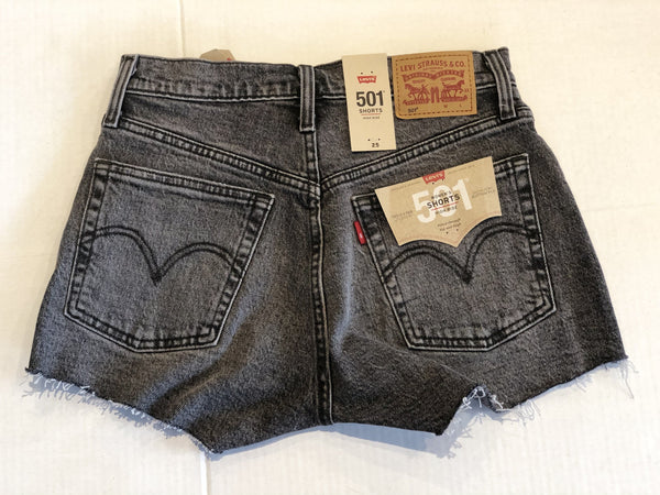Levi's 501 Original Denim Shorts - Grey Lady