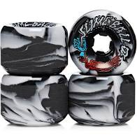 Slime Balls Vomit Black White Swirl 97a 60mm