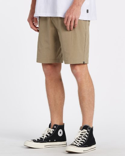 Billabong Surftrek Heather Hybrid Shorts - Khaki Heather