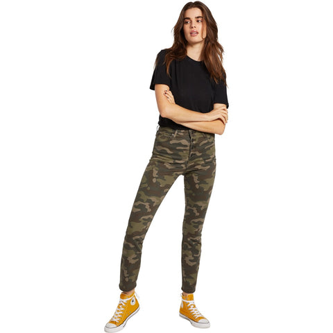 Volcom Womens Super Stoned Skinny Camo