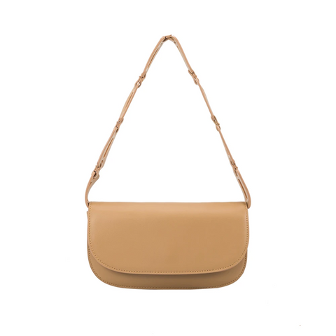 Melie Bianco Inez Small Shoulder Bag Tan