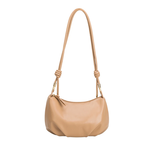 Melie Bianco Nadine Medium Shoulder Bag Tan
