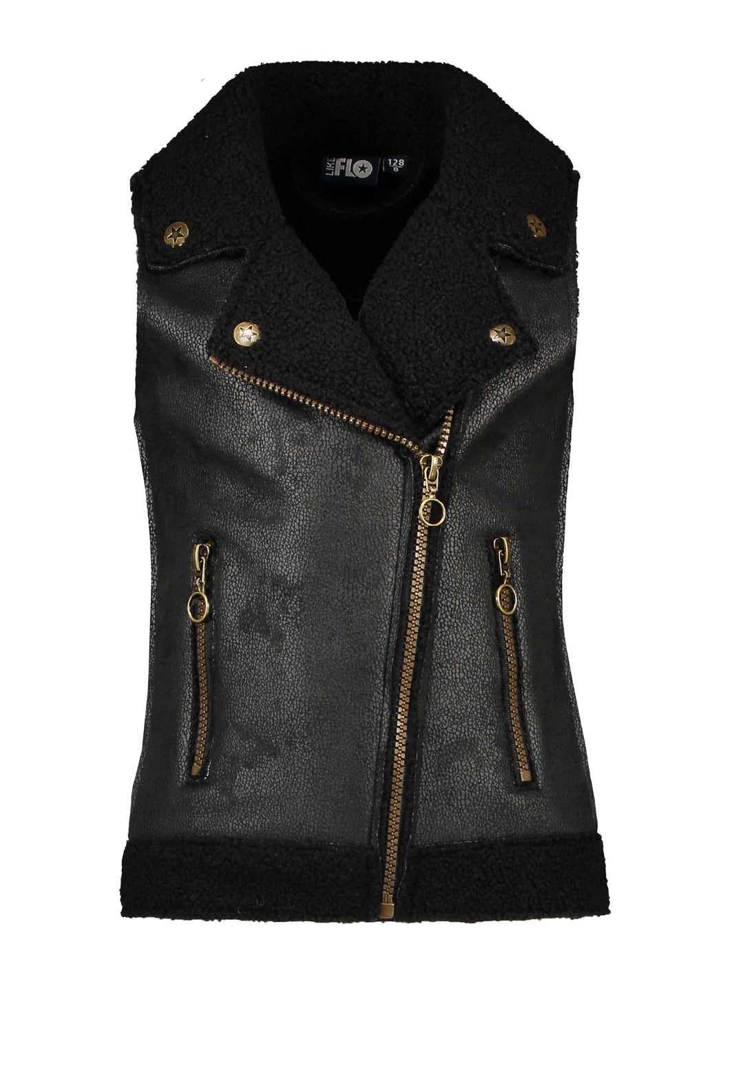 Like Flo - Lammy biker Bodywarmer - Teens Girls