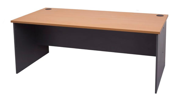 Slab End Worker Desk - Straight