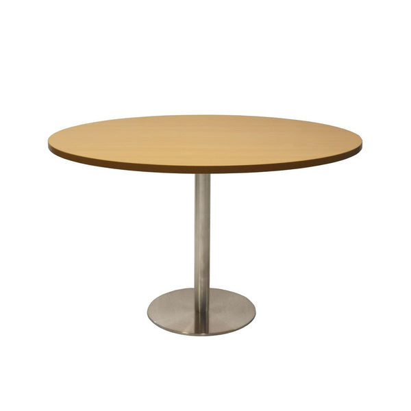 Round Flat Disc Base Table in Stainless Steel Finish