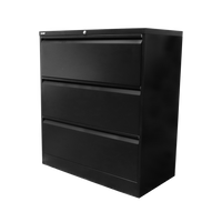 GO Heavy Duty 3 Drawer Lateral Filing Cabinet - Assembled