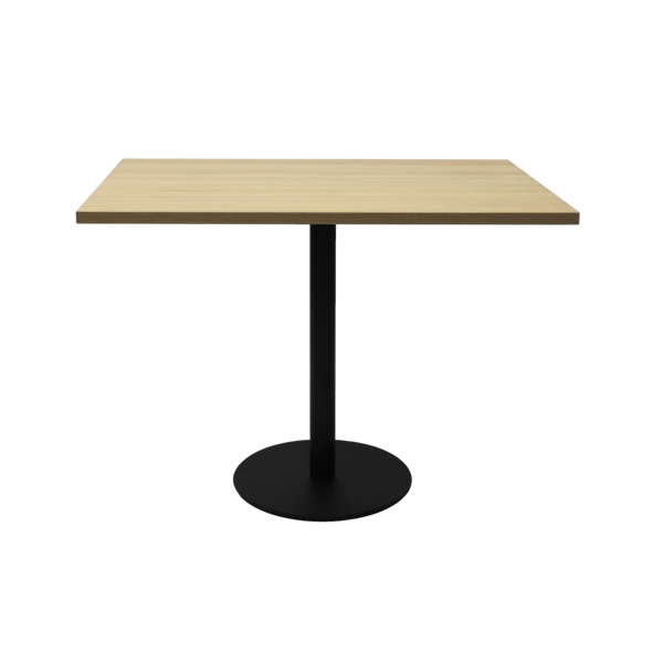 Square Flat Disc Base Table in Black Powder Coat Finish