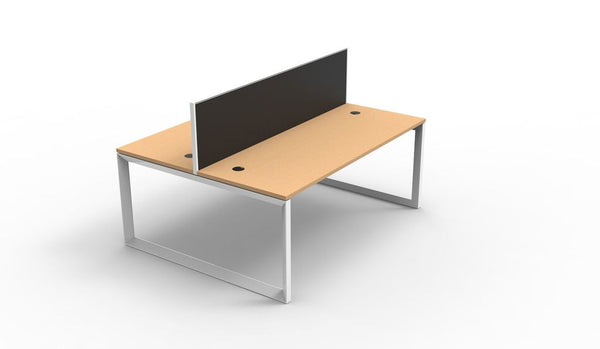 Rapid Infinity 2 Person Double Sided Workstation - Loop Leg - With Privacy Screen