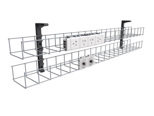 1 x Dual Tier Cable Basket - 1250mm W