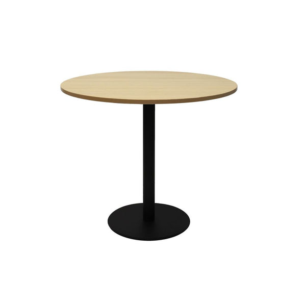 Round Flat Disc Base Table in Black Powder Coat Finish