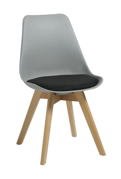 Virgo Chair - Oak Coloured Timber Leg / Polypropylene Shell
