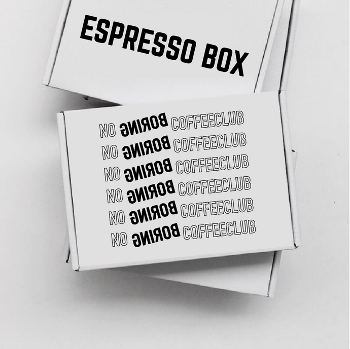 NO BORING COFFEE BOX