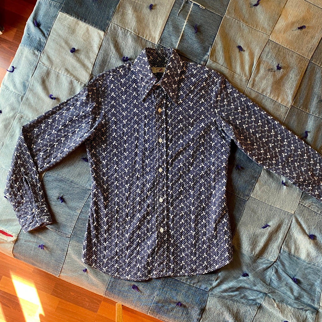 Levis Big E 70's eyelet blouse