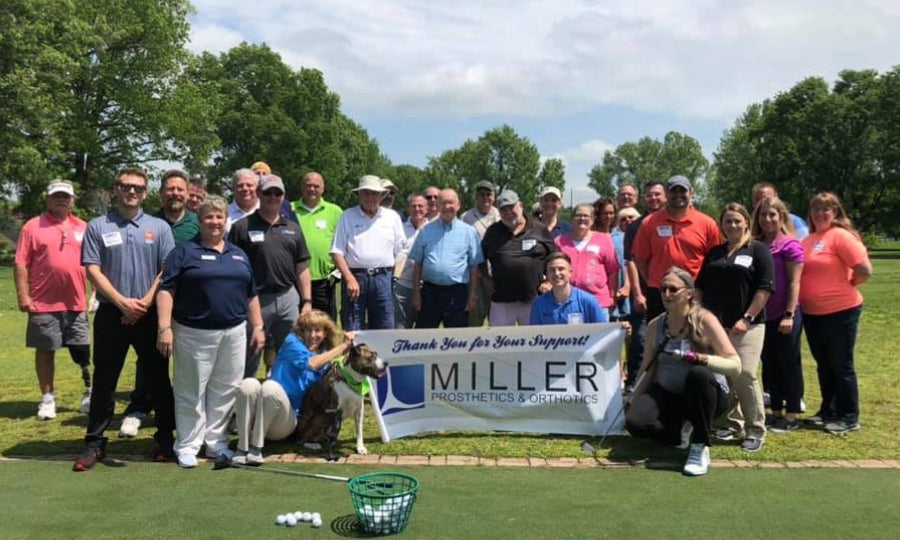 First Swing Golf Event with Miller Prosthetics & Orthotics and OPAF
