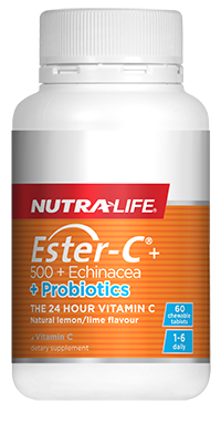 Nutra-Life Ester C Echinacea Probiotic Chewable 60 Tablets