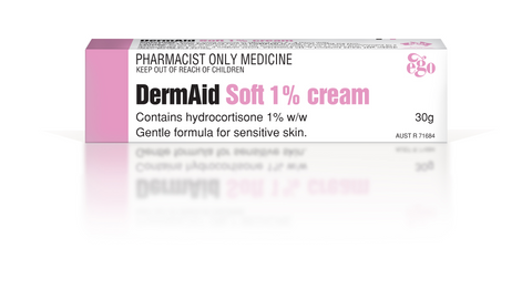 Ego Derm Aid Soft 1% Cream 30g ONLY AVAILABLE INSTORE