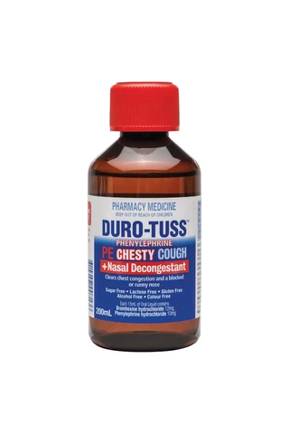 Duro Tuss PE Chesty Cough Plus Nasal Decongestant 200ml