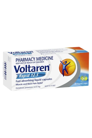 Voltaren Rapid 12.5mg 20 Liquid Capsules