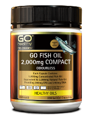 Go Healthy Fish Oil 2000mg Odourless 230 Capsules
