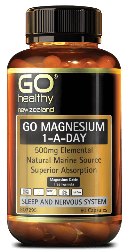 Go Healthy Magnesium 500mg 60 Capsules