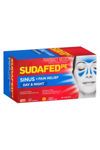 Sudafed PE Day and Night 48 Tablets