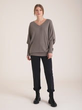 Load image into Gallery viewer, Orna V Neck Cape Cashmere Sweater
