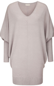 100% Cashmere V neck sweater with our signature rib cuff.