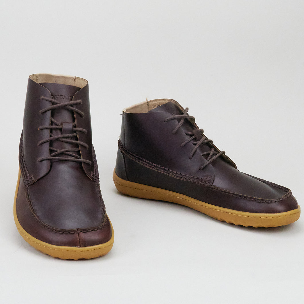 Vivobarefoot Gobi Mocc M Dark Brown Leather