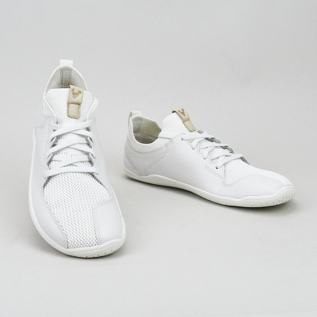 Vivobarefoot Primus Knit L Bright White Leather