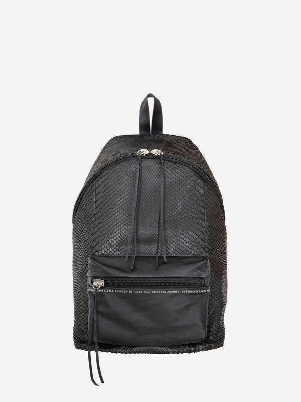 CREATION JOURNEY_PYTHON LEATHER BACK PACK/ KK-250-P