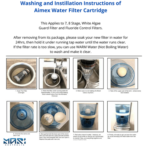 instruction to filter cleaning